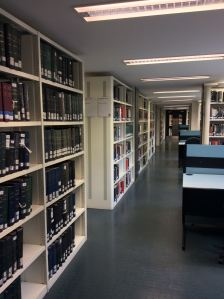 A converted records room, now home to stacks and study space